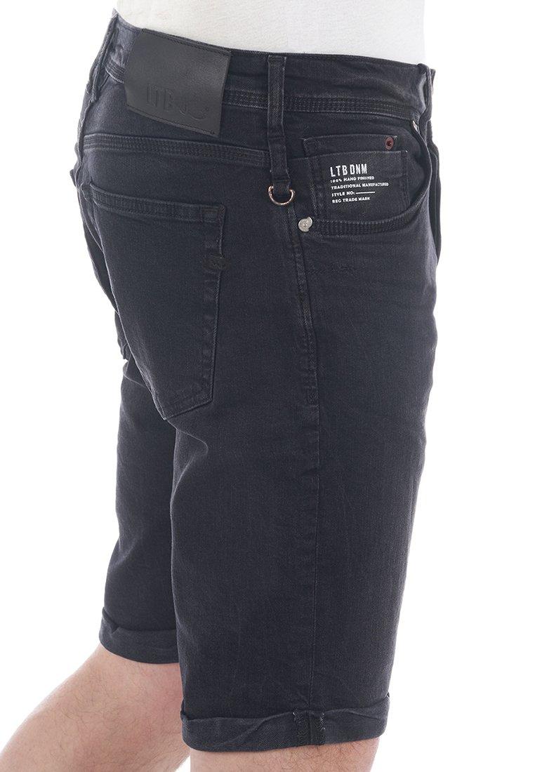 LTB - CORVIN - Denim shorts - black denim