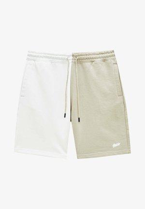 Tracksuit bottoms - mottled beige