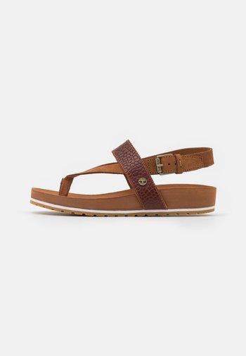 MALIBU WAVES THONG - T-bar sandals - medium brown