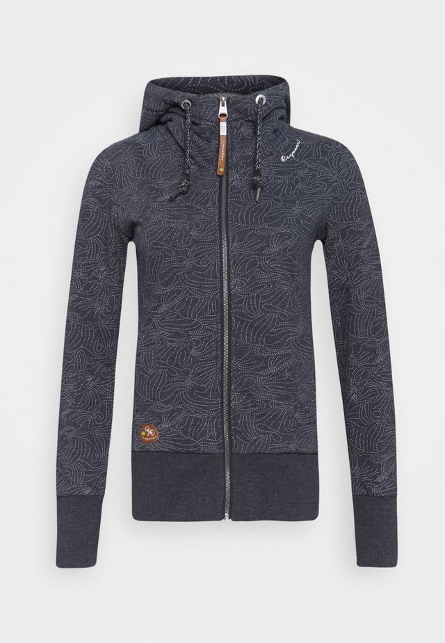 YODA ZIP ORGANIC - veste en sweat zippée - navy