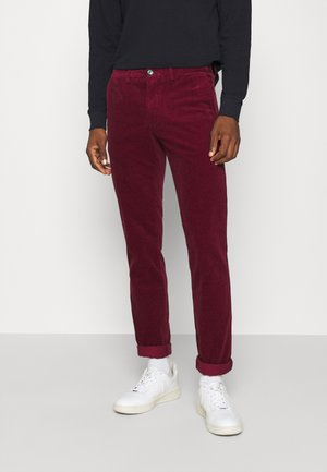 DENTON CORDUROY PANT - Tygbyxor - dark red
