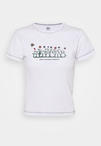 NATURE RULES EVERYTHING BABY TEE - T-shirt con stampa - white