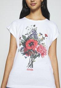 Dedicated - VISBY DO NO HARM - Print T-shirt - white - 5