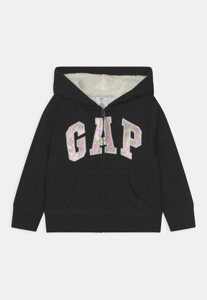 GIRL LOGO COZY  - Zip-up sweatshirt - true black