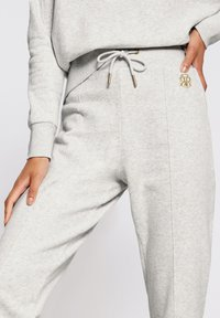 River Island - MARL SEAM DETAIL  - Tracksuit bottoms - grey - 3