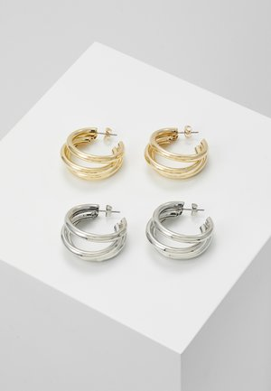PCDUBBI EARRINGS 2 PACK - Orecchini - gold-coloured/silver-silvercoloured
