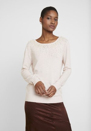PEARL SCATTER NECK - Strikkegenser - blush