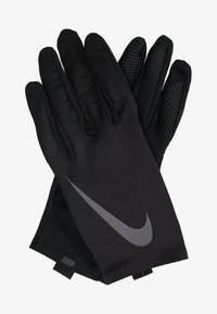 Nike Performance - PRO WARM MENS LINEAR GLOVES - Hansker - black/dark grey - 1