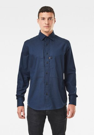 PANELLED POCKET SLIM - Shirt - sartho blue