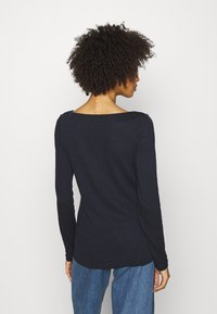 Marc O'Polo - LONG SLEEVE BOAT NECK - Long sleeved top - manic midnight - 2