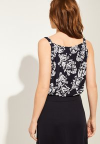 comma - Blouse - navy two tone flowers - 2