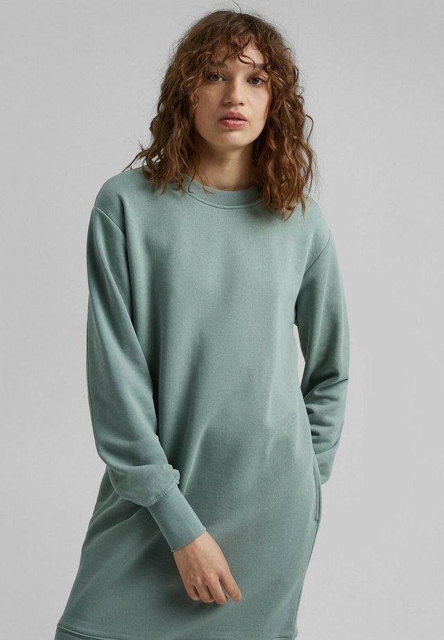 Gebreide jurk - turquoise