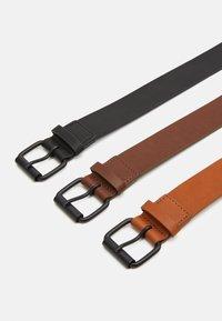 Pier One - 3 PACK - Riem - black/brown/cognac - 1