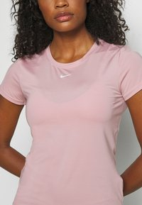 Nike Performance - ONE SLIM - Basic T-shirt - pink glaze/white - 5