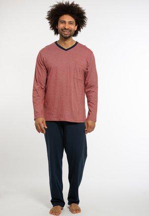 Pyjamas - dunkelblau / rot gestreift