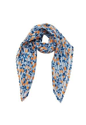 LEMON PRINT PLEATED - Foulard - bleu