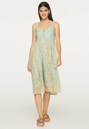 TURQUOISE INDIAN COTTON NIGHTDRESS - Sukienka letnia - turquoise