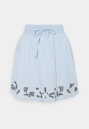 VIANAYAS SHORT SKIRT - Mini skirt - cashmere blue/navy blazer