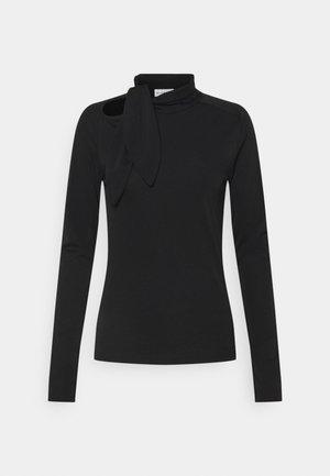 CARISI TIE BLOUSE - Long sleeved top - black