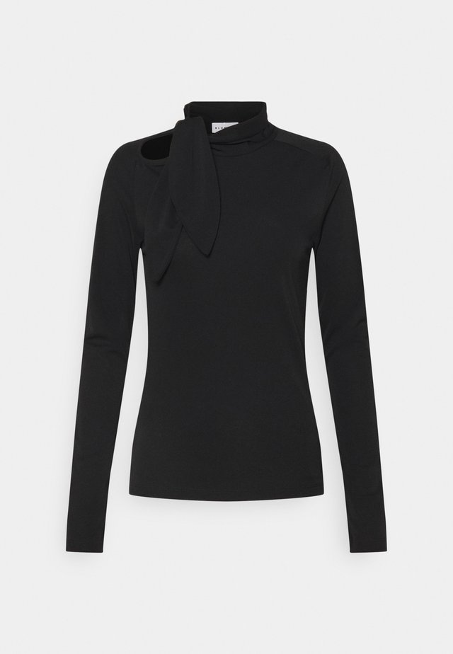 CARISI TIE BLOUSE - Pitkähihainen paita - black