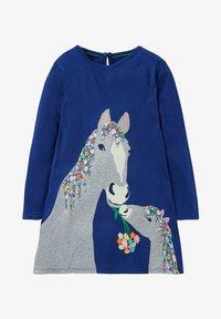 Boden - MIT GROSSER APPLIKATION - Day dress - segelblau pferd - 0