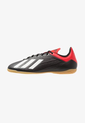 X 18.4 IN - Indoor football boots - core black/offwhite/active red
