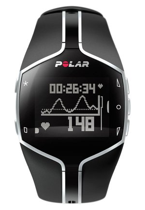 Heart rate monitor - black/silver