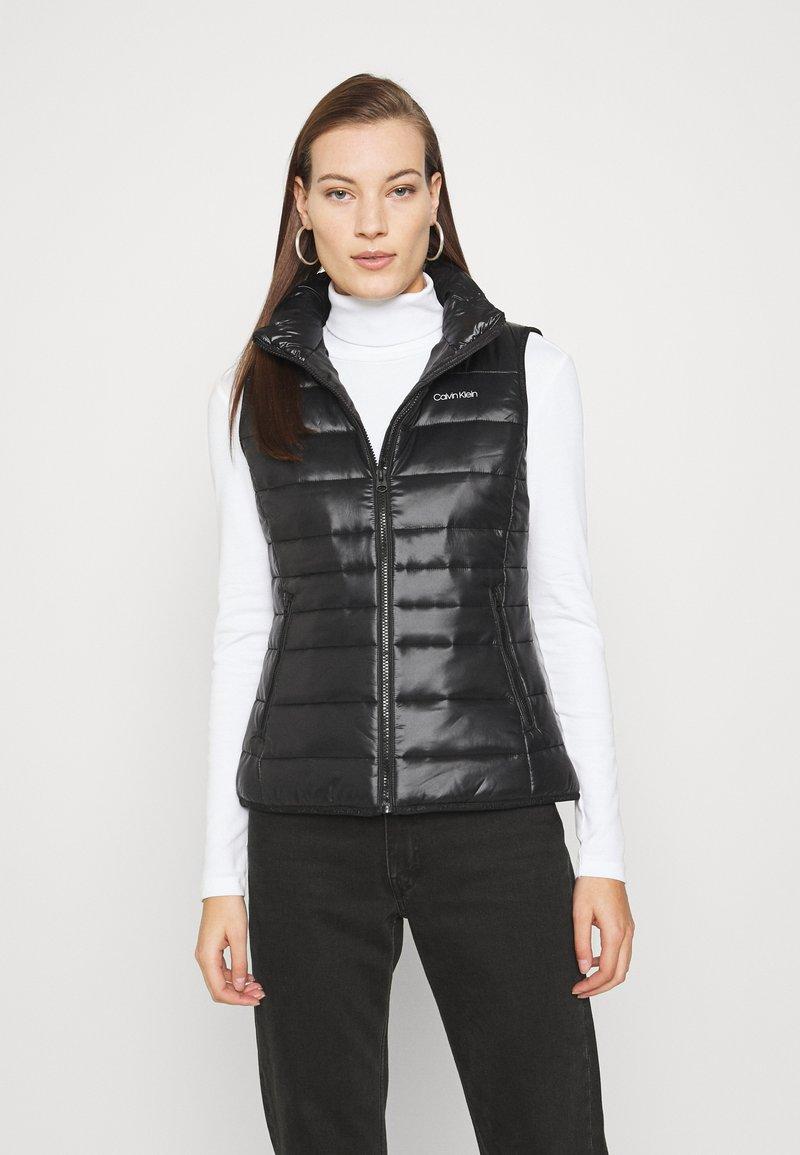 Calvin Klein - VEST - Waistcoat - black
