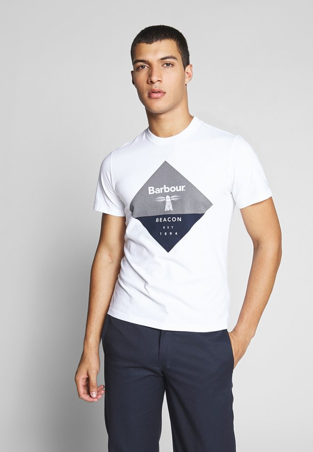 DIAMOND TEE - T-shirt z nadrukiem - white