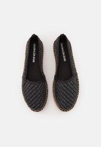 Calvin Klein Jeans - ESPADRILLE WEDGE AOP CO - Espadrilles - black - 5