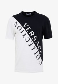 Versace Collection - T-shirt med print - nero/bianco - 3