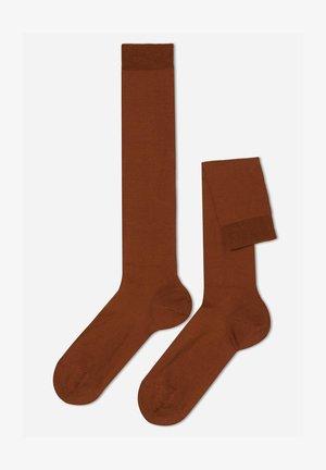 Knästrumpor - braun-burnt brown