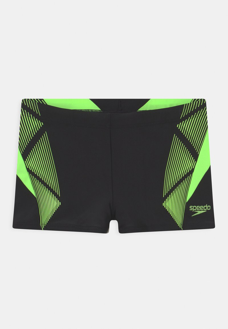 Speedo - PLACEMENT - Swimming trunks - black/zest green
