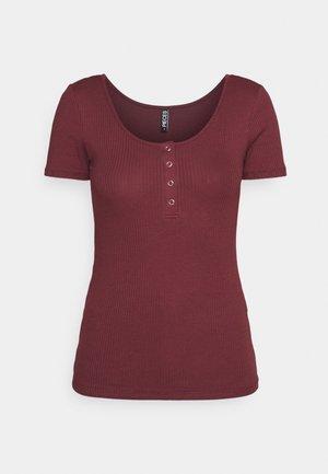 PCKITTE - T-shirts - red mahogany