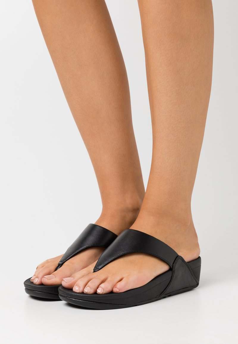 FitFlop - LULU - Sandaler m/ tåsplit - black