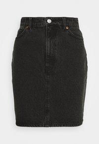 Monki - MIMMIE SKIRT - Pouzdrová sukně - black dark - 0
