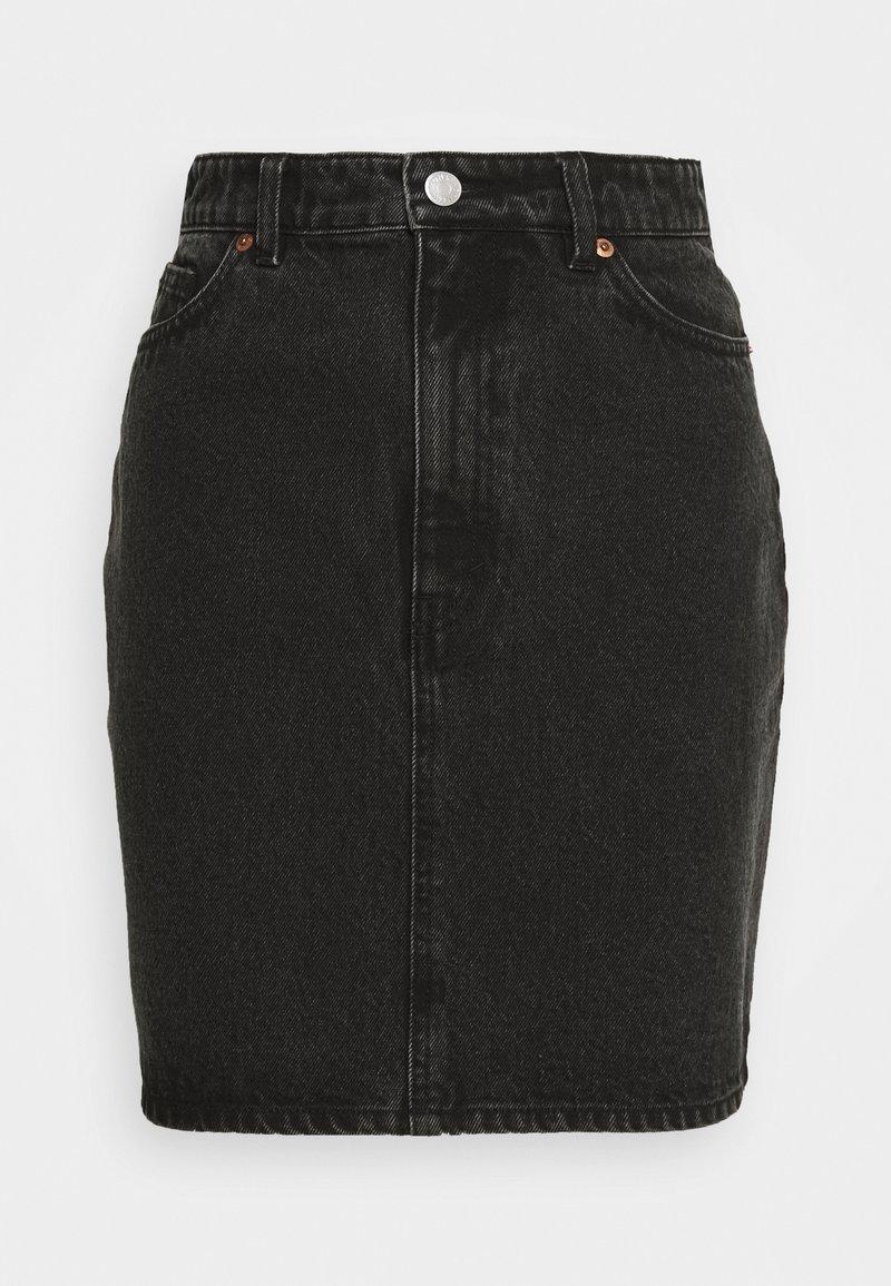 Monki - MIMMIE SKIRT - Pouzdrová sukně - black dark