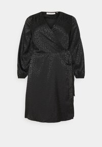 ONLY Carmakoma - CARDAMINA WRAP KNEE DRESS - Day dress - black - 5