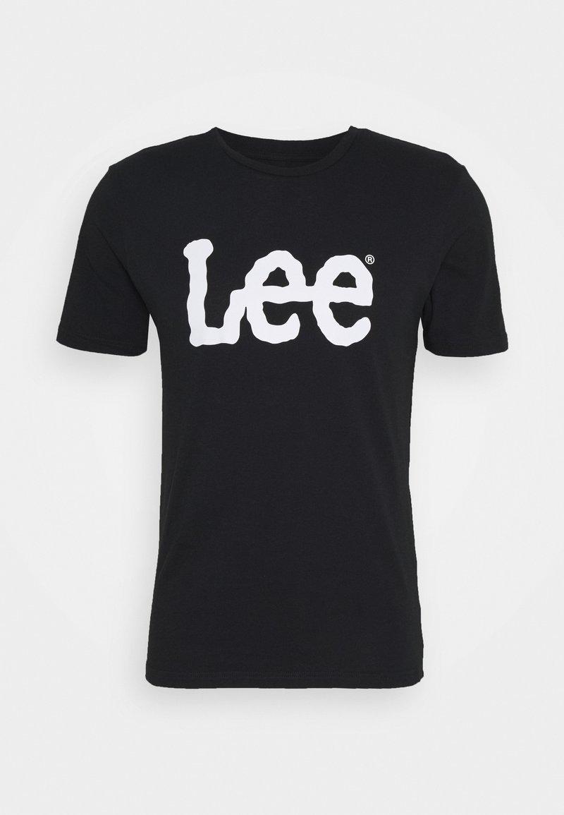 Lee - WOOBLY  TEE - T-shirt z nadrukiem - black