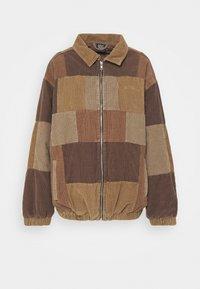 PATCHWORK HARRINGTON  - Lehká bunda - brown