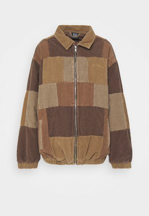 PATCHWORK HARRINGTON  - Lehká bunda - brown