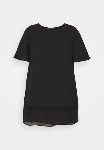 SHEER HEM - Bluser - black
