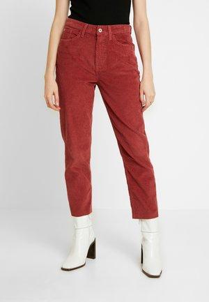 Trousers - dark pink