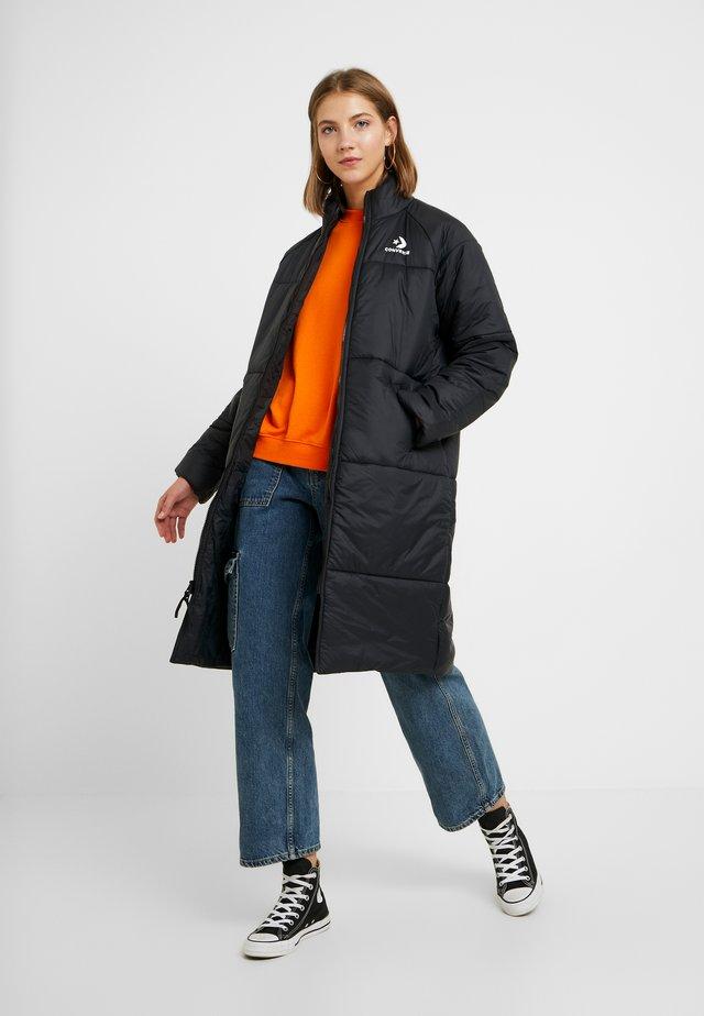 SYNTHETIC LONG JACKET - Zimní kabát - black