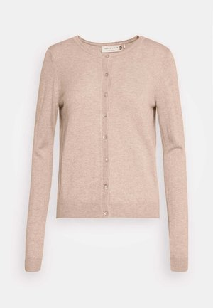 SOFT WOOL BLEND - Strickjacke - beige melange