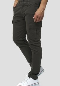 INDICODE JEANS - Cargo trousers - anthracite - 3