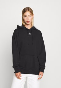adidas Originals - TREFOIL ESSENTIALS HOODED - Jersey con capucha - black - 0