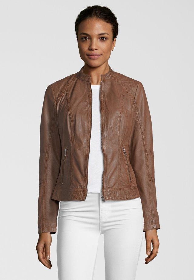 CONA - Leather jacket - cognac