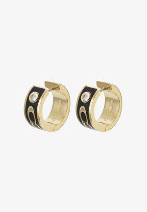 KISSING HUGGIE - Earrings - gold-coloured/black