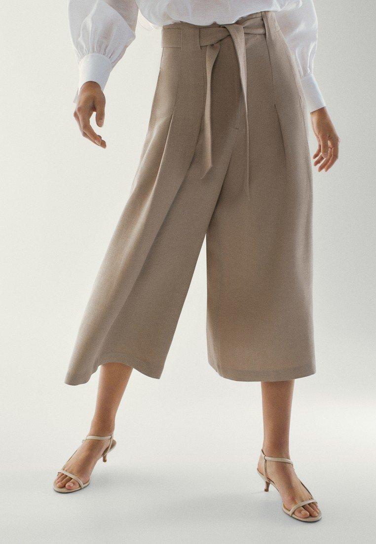 Massimo Dutti - MIT SCHLEIFE - Pantalon classique - brown